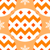 R4X bauble : orange peach
