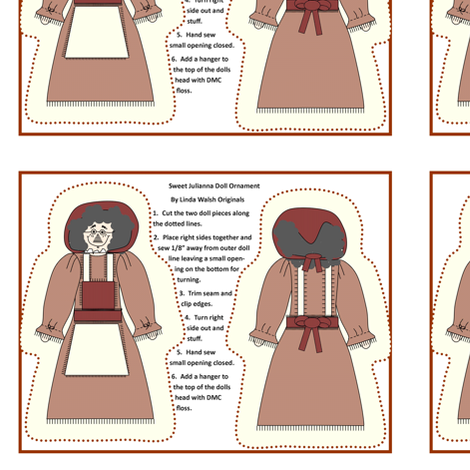 Sweet Julianna Cut and Sew Primitive Doll Ornament fabric by lworiginals on Spoonflower - custom fabric