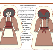 Sweet Julianna Cut and Sew Primitive Doll Ornament