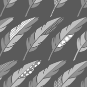 Fab Feathers - Gray Scale