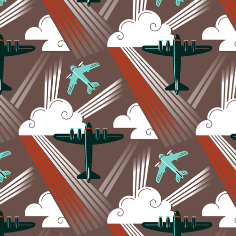 Modern Aviation 1b fabric by muhlenkott on Spoonflower - custom fabric
