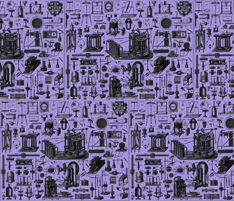 physics_devices_purplelt fabric by craftyscientists on Spoonflower - custom fabric