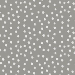 Watercolor Dot in Gray