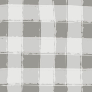 Watercolor Check in Gray