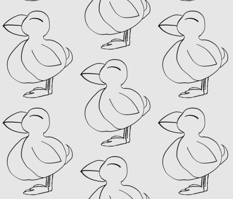 Puffin a Lunni bird of nature fabric by mayadesign on Spoonflower - custom fabric