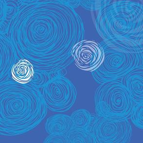 Blue Hay Bales