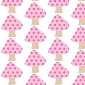 Pink Dotted Mushrooms
