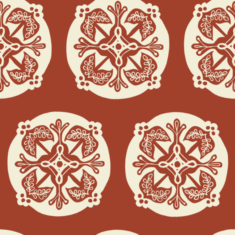 Medallion - apple fabric by rochelle_new on Spoonflower - custom fabric