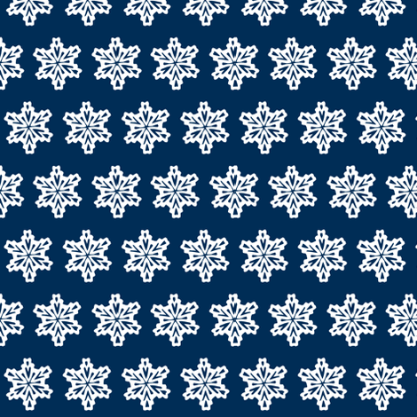 Snowflakes in the night sky fabric by ali*b on Spoonflower - custom fabric