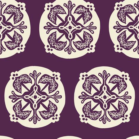 Medallion - eggplant fabric by rochelle_new on Spoonflower - custom fabric