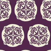 Medallion - eggplant
