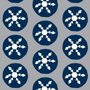 Snow ball fight-dark blue