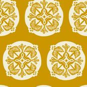 Medallion - mustard