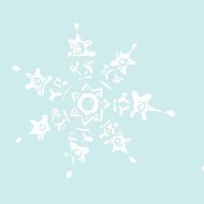 snowflake-pale blue