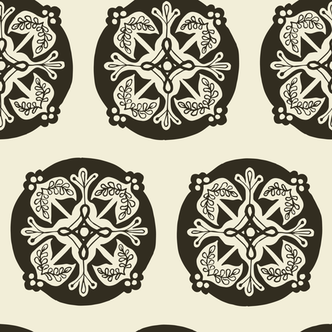 Medallion - pepper fabric by rochelle_new on Spoonflower - custom fabric
