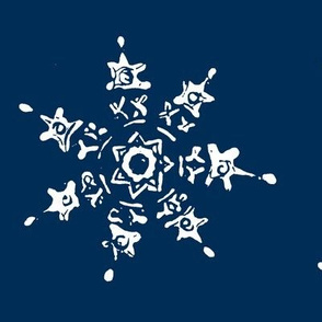 snowflake-dark blue