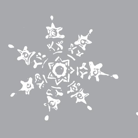 snowflake-grey fabric by ali*b on Spoonflower - custom fabric