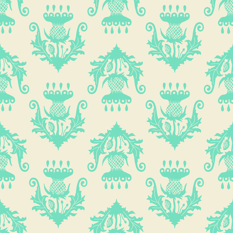 Little Thistle - mint fabric by rochelle_new on Spoonflower - custom fabric