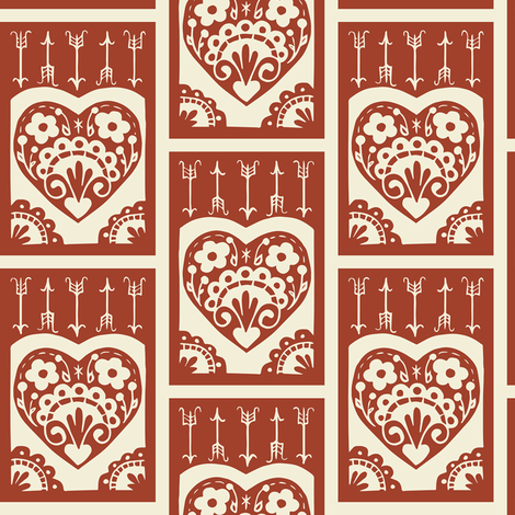 Little Valentine - apple fabric by rochelle_new on Spoonflower - custom fabric