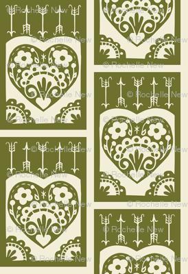 Little Valentine - olive