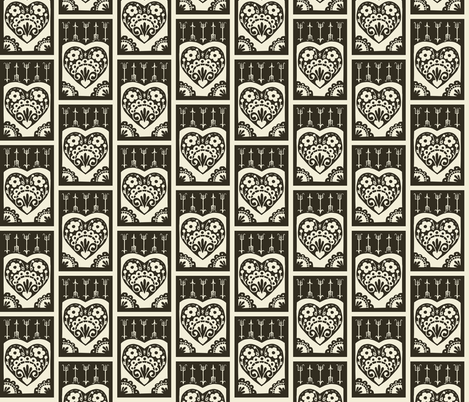 Little Valentine - pepper fabric by rochelle_new on Spoonflower - custom fabric