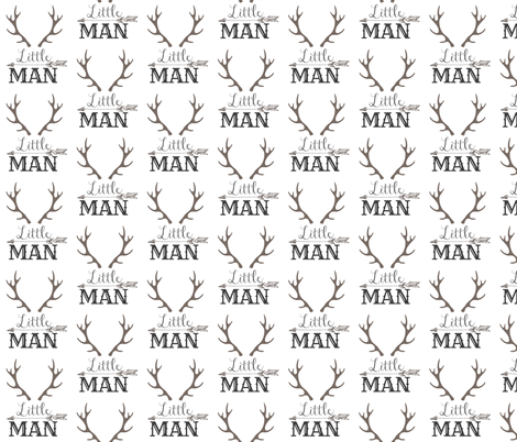 Little Man Smaller  fabric by hudsondesigncompany on Spoonflower - custom fabric