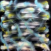 Blue Yellow White Swirls
