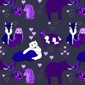 Love sweet love in purple