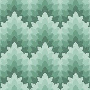 leafy zigzag : soft spring greens
