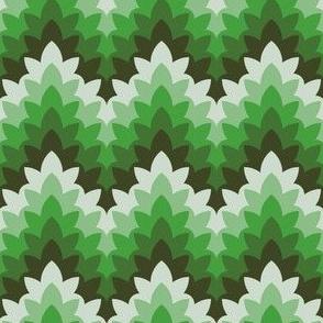 leafy zigzag : xmas greens