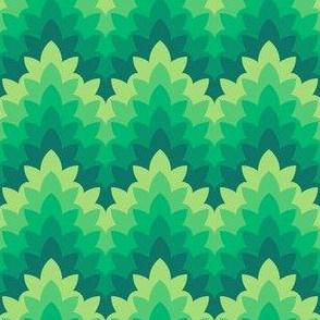 leafy zigzag : serene greenery