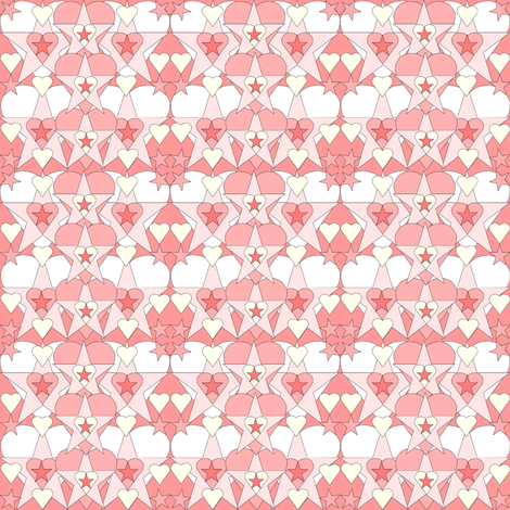 Gray Is Beautiful Pink Hearts and Stars Fabric #2 fabric by lworiginals on Spoonflower - custom fabric