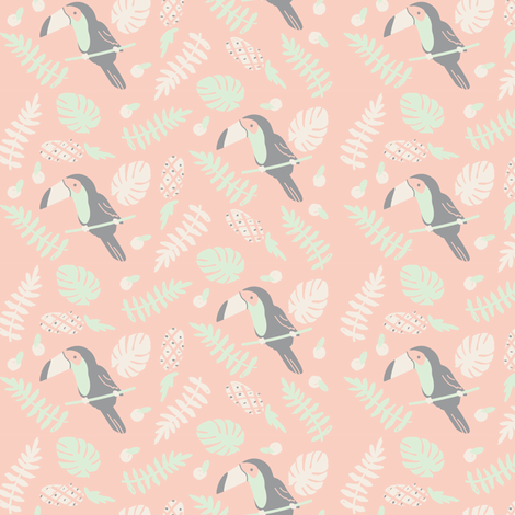 toucan tango fabric by annaboo on Spoonflower - custom fabric