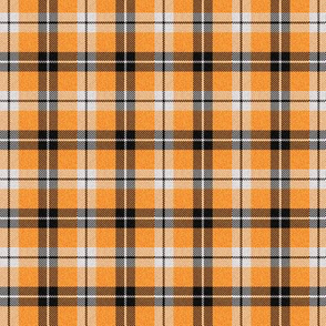 Orange and Black Plaid