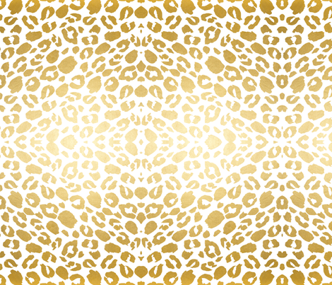 Gold leopard print fabric by jenlats on Spoonflower - custom fabric