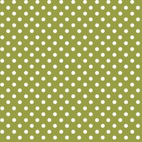 Dots in olive green