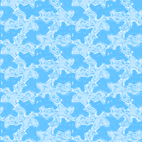 Foggy Blue Jigsaw Puzzle Pieces fabric by eclectic_house on Spoonflower - custom fabric