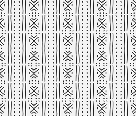 line_mudcloth fabric by holli_zollinger on Spoonflower - custom fabric