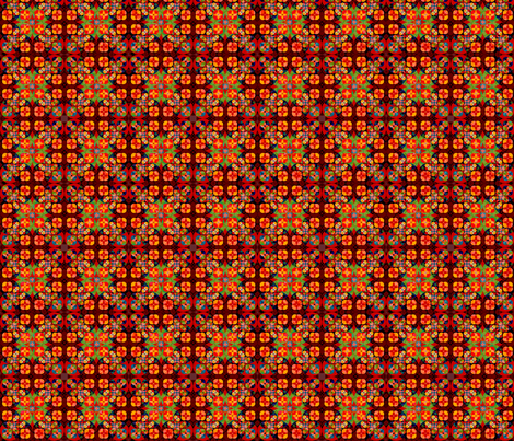 Square flower pattern symmetrical fabric by julia_faranchuk on Spoonflower - custom fabric