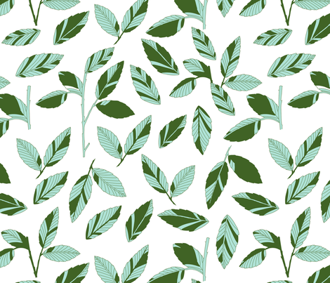 jungle_leaf_mint fabric by holli_zollinger on Spoonflower - custom fabric