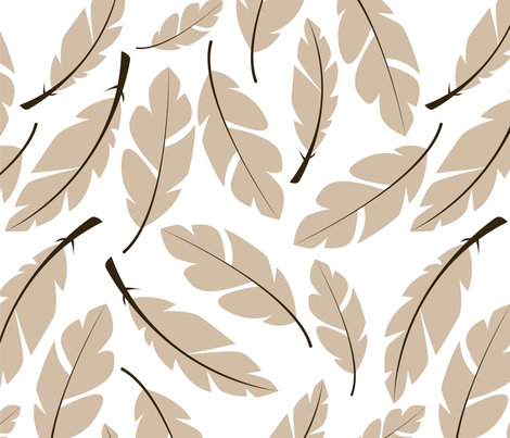 Feather 008 fabric by bluelela on Spoonflower - custom fabric
