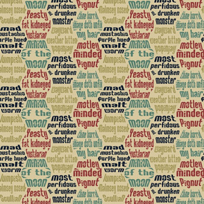 shakespearean insults tan background