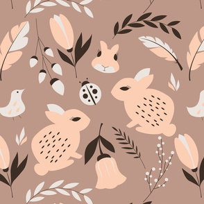 Bunnies and flowers 008