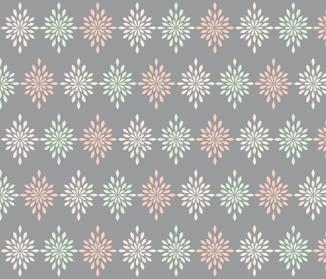 Muted Pastel Starbursts fabric by sunshineandspoons on Spoonflower - custom fabric
