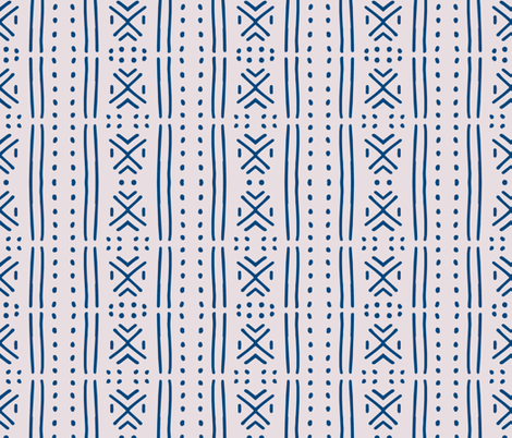 line_mudcloth_pink fabric by holli_zollinger on Spoonflower - custom fabric