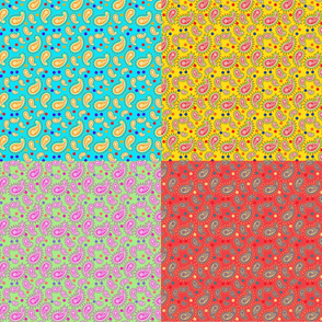 Paisley & Dots - Brights -Yard