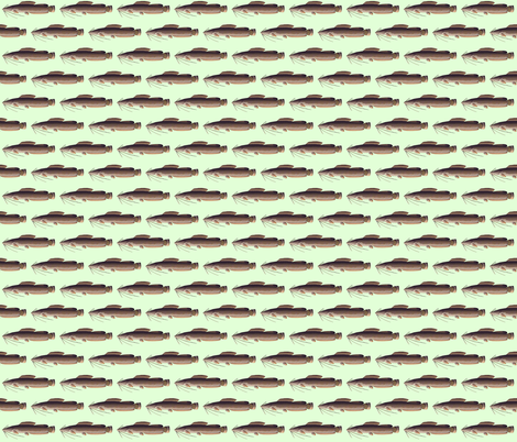 Vundu Catfish in green fabric by combatfish on Spoonflower - custom fabric