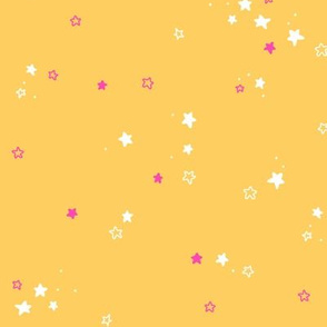 Stars in yellow and pink