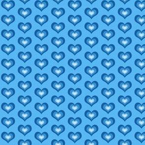 Blue hearts -small