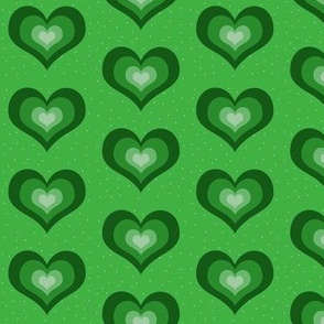 Green hearts - large
